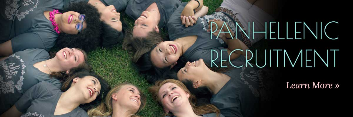 College Panhellenic Council recruitment
